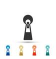 keyhole icon isolated on white background vector image