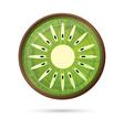 Kiwi Icon Isolated on White vector image vector image