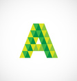 Letter A logo template Green and yellow triangle vector image