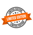 limited edition label limited edition orange band vector image vector image