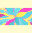 multicolored pattern from wavy lines hand vector image
