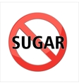 no sugar sign vector image vector image