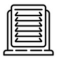 office heater icon outline style vector image