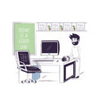 office life design vector image