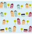 Paper town seamless pattern vector image vector image