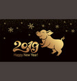 pig is a symbol of the 2019 chinese year greeting vector image vector image