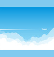 plane flying above clouds vector image vector image