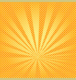 Pop art background rays of the sun are orange and