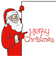 santa claus with blank sign 01 vector image