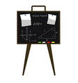 school blackboard with a task vector image