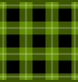 seamless black green tartan with white stripes vector image vector image
