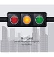 semaphore trafficlight sign design vector image