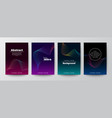 set abstract gradient colorful wave shape on vector image
