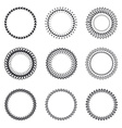 Set of round wreaths frames Hand Drawn wedding or vector image vector image