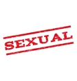 Sexual Watermark Stamp vector image vector image