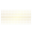 sinusoid wave golden halftone matrix vector image vector image