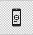 smartphone update process with gearbox progress vector image vector image