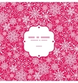Snowflake Texture Frame Seamless Pattern vector image vector image