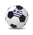 soccer ball with the flag of Greece vector image vector image