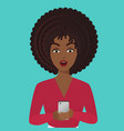 stylish surprised office african american black vector image