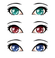 Stylized Eyes vector image vector image