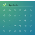 Symbols Line Icons vector image vector image
