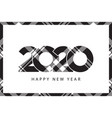 tartan plaid texture 2020 happy new year black vector image