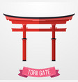 traditional japanese torii gate on white backgroun vector image