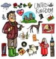 Travelling attractions - United Kingdom vector image vector image