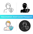 vaccination adults icon vector image vector image