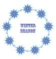 winter banner vector image vector image