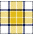 yellow and white tartan plaid seamless pattern vector image vector image