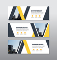 Yellow black abstract triangle corporate business vector image vector image