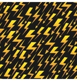 Yellow lightnings black seamless pattern vector image vector image