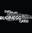 your day care business plan text background word vector image vector image