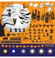 Set of Halloween objects and elements for your vector image
