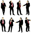 silhouettes of business vector image