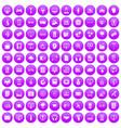 100 website icons set purple vector image vector image