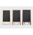 3d realistic blank wooden chalk board vector image vector image