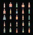 alcohol bottles set vector image vector image