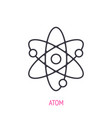atom with nucleus and electrons outline icon vector image vector image