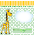 background for children with a giraffe and a bow vector image