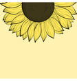 background with sunflowers vector image vector image