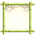 bamboo frame with brown rope vector image vector image