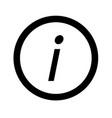 basic font letter i icon design vector image vector image