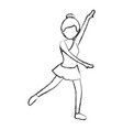 beautiful woman dancing vallet vector image vector image