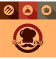 best chef labels vector image vector image