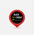 black friday sale tag black friday sale pin black vector image vector image