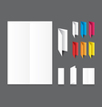 Blank white folding color paper flyer vector image vector image