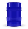 blue metal barrel vector image